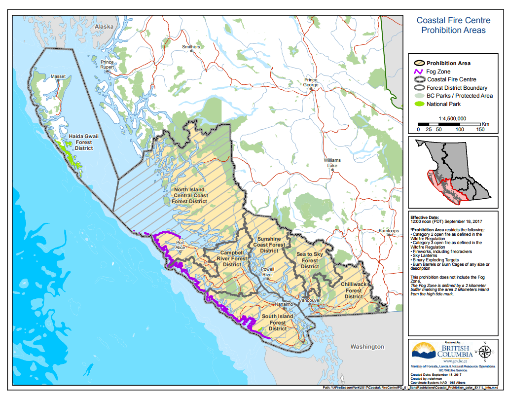 Campfire Ban Rescinded In Coastal Fire Centre My Powell River Now