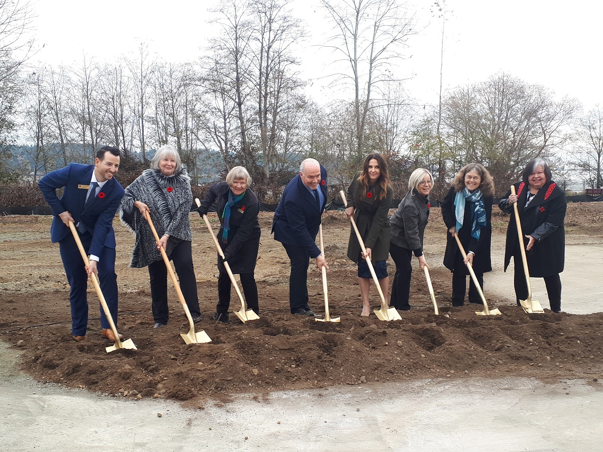 Premier breaks ground on Courtenay long-term care facility - My Powell River Now