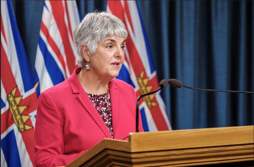 Provincial finance minister Carole James